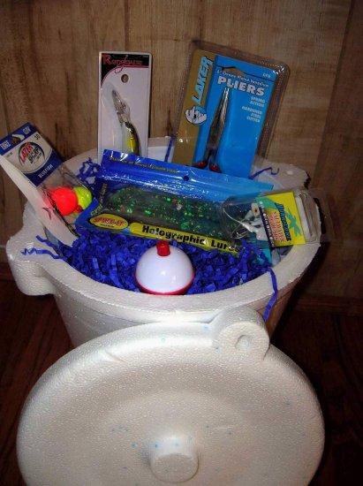 """Jumbo Saltwater Fishing Gift Basket, """"Big Kahuna"""", Fishing Gift"""