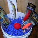 Saltwater Fishing Gift Basket, #Skip007