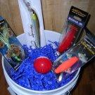 Saltwater Fishing Gift Basket, #Skip007