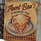 HOMEMADE PIES TIN SIGN  METAL HOME ADV SIGNS A