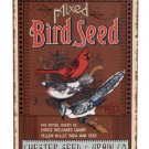 MIXED BIRDSEED TIN SIGN  METAL HOME ADV SIGNS B