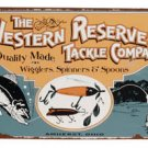 THE WESTERN RESERVE TACKLE CO SIGN METAL FISHING SIGNS