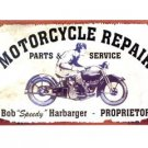 MOTORCYCLE REPAIR TIN SIGN