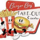 BURGER BOY TIN SIGN DINER RESTAURANT RETRO METAL SIGNS