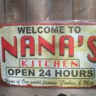 NANA'S KITCHEN TIN SIGN METAL RETRO ADV AD SIGNS N