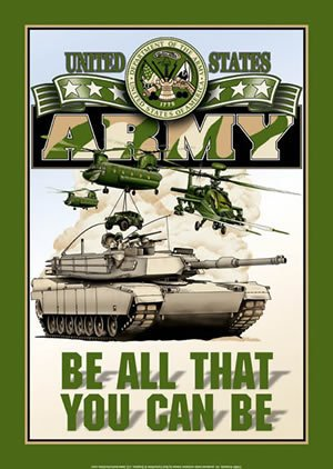 UNITED STATES ARMY TIN SIGN METAL ADV SIGNS A