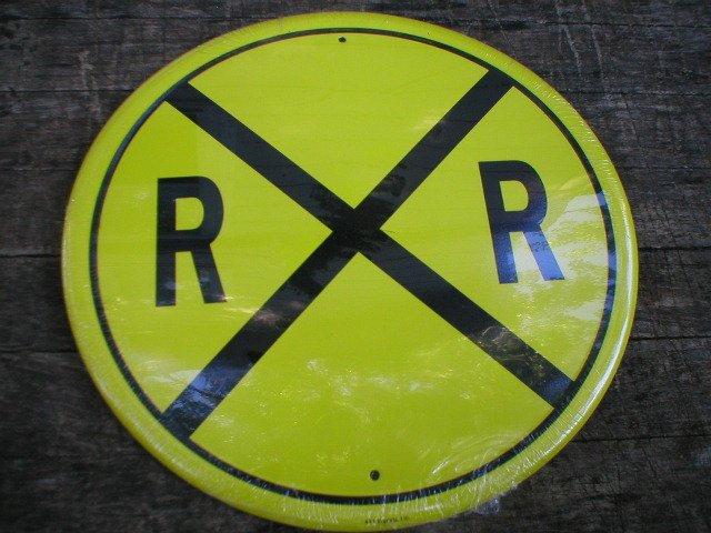 YELLOW RAILROADTIN SIGN METAL BAR CAFE LOGO SIGNS R