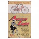 VINTAGE STYLE AURORA BICYCLE TIN SIGN B