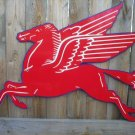 LARGE MOBILGAS PEGASUS SIGN METAL GAS STATION SIGNS P