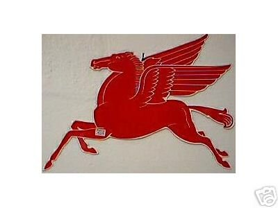 MOBIL DIE-CUT PEGASUS SIGN GAS OIL STATION METAL SIGNS