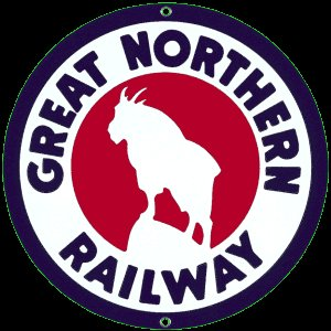 GREAT NORTHERN RAILWAY PORCELAIN COAT SIGN METAL SIGNS