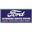 FORD SERVICE PORCELAIN COAT SIGN METAL ADV CAR SIGNS F