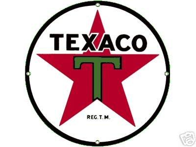TEXACO T STAR PORCELAIN COAT SIGN METAL ADV SIGNS O