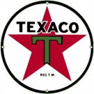 TEXACO T STAR PORCELAIN COAT SIGN METAL ADV SIGNS O