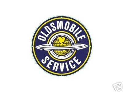 OLDSMOBILE SERVICE PORCELAIN COAT SIGN METAL ADV SIGNS