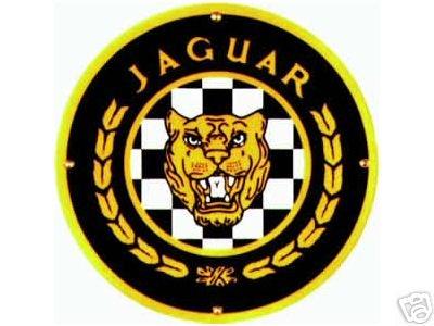 JAGUAR PORCELAIN-OVERLAY SIGN METAL CAR AUTO SIGNS J