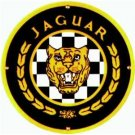 JAGUAR PORCELAIN-OVERLAY SIGN METAL CAR AUTO SIGNS J