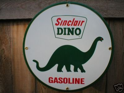 SINCLAIR DINO GASOLINE PORCELAIN SIGN METAL GAS SIGNS S