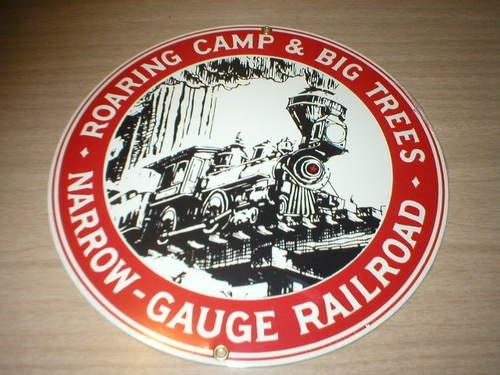 ROARING CAMP RAILROAD PORCELAIN COATED SIGN