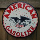 AMERICAN GASOLINE PORCELAIN SIGN GAS & OIL METAL SIGNS