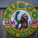 MUSGO GASOLINE PORCELAIN SIGN METAL GAS STATION SIGNS M