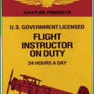 SHELL GASOLINE FLIGHT INSTRUCTOR SIGN RED AIRPLANE R
