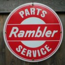 RAMBLER PARTS SERVICE PORCELAIN SIGN METAL ADV SIGN R