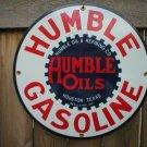 HUMBLE GASOLINE PORCELAIN SIGN METAL GAS STATION SIGNS