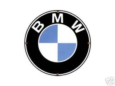 BMW PORCELAIN-COATED SIGN SPORTS CAR METAL ADV SIGNS B