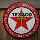 TEXACO PETROLEUM PORCELAIN-COATED SIGN T