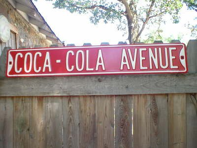 COCA-COLA STREET OR ROAD SIGN METAL ADV SIGNS C