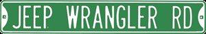 JEEP WRANGLER RD STREET SIGN METAL ADV SIGNS J