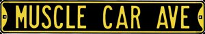 MUSCLE CAR AVENUE HEAVY METAL SIGN