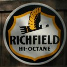 LG RICHFIELD HI-OCTANE TIN SIGN METAL ADV AD SIGNS R