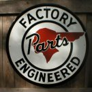 LG FACTORY PONTIAC PARTS TIN SIGN METAL ADV AD SIGNS P