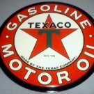 LARGE TEXACO TIN SIGN METAL ADV GAS OIL SIGNS T