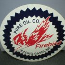 PURE OIL COMPANY FIREBIRD RACING GASOLINE TIN SIGN P