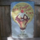 LG HOT FUDGE SUNDAE RETRO TIN SIGN DINER METAL AD SIGNS