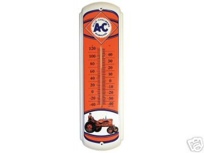 ALLIS CHALMERS THERMOMETER TIN SIGN METAL SIGNS A
