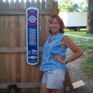 LG CHEVROLET THERMOMETER SIGN PIC METAL CHEVY AD SIGNS