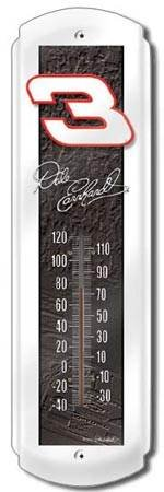 DALE EARNHARDT SR. THERMOMETER SIGN METAL ADV SIGNS L
