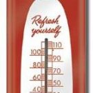 DRINK COCA-COLA THERMOMETER SIGN METAL ADV SIGNS C