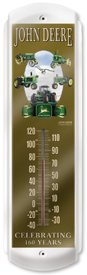 JOHN DEERE 160 YEARS THERMOMETER SIGN METAL ADV SIGNS H