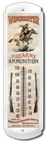 WINCHESTER THERMOMETER SIGN METAL ADV SIGNS W