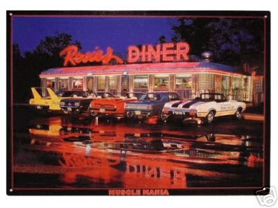 ROSIE'S DINER MUSCLE MANIA TIN SIGN METAL RETRO SIGNS R