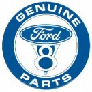 FORD V8 ROUND TIN SIGN METAL ADV CAR SIGNS F