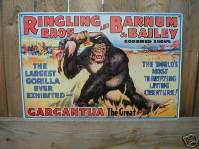 RINGLING BROS CIRCUS TIN SIGN METAL ADV AD SIGNS R