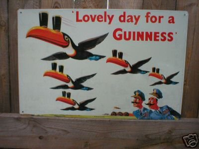 GUINNESS LOVELY DAY TIN SIGN METAL BEER ADV AD SIGNS G