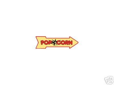 POPCORN ARROW RETRO TIN SIGN METAL ADV AD SIGNS P