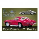 CHEVY CORVETTE STINGRAY TIN SIGN RETRO METAL ADV SIGNS
